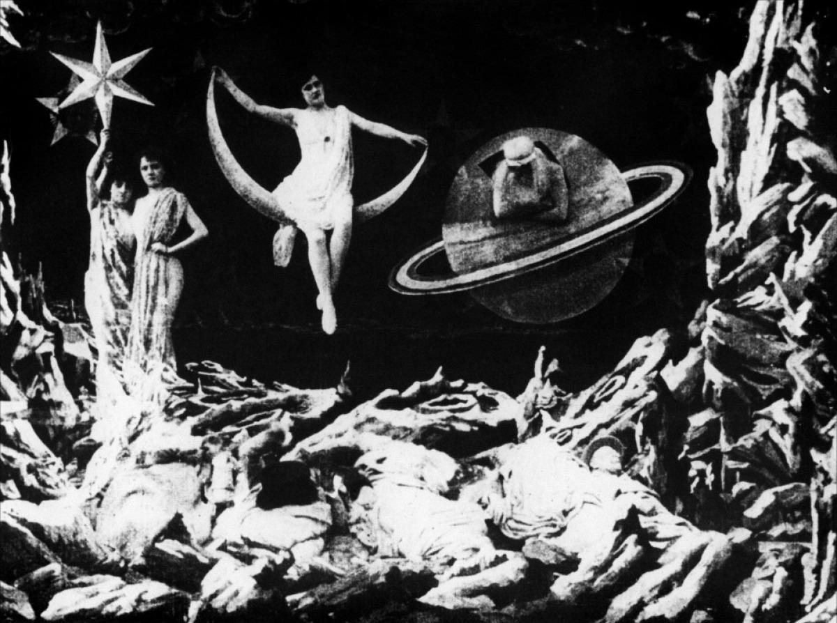 """Σκηνή απ'το """"Ταξίδι στη σελήνη"""", του Ζορζ Μελιές."""